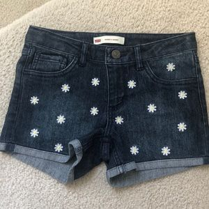 Levi's Shorty Shorts with sunflowers